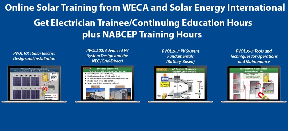 WECA Solar Electrician Training