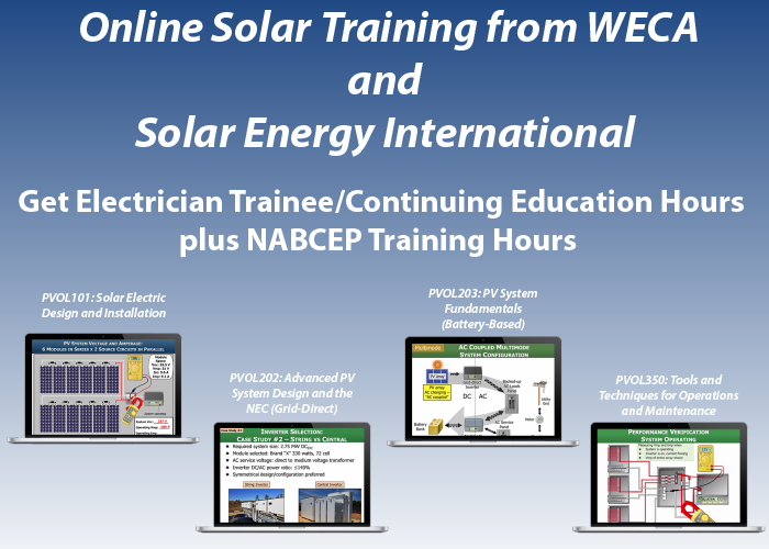 WECA Online Solar Electrician Training