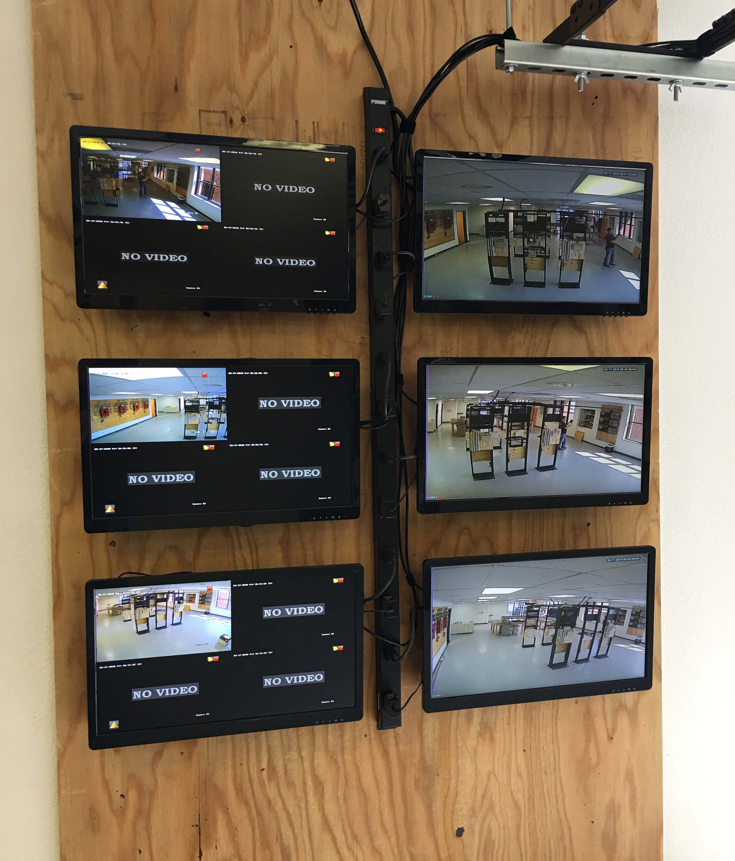 CCTV Monitors at San Diego Training Facility